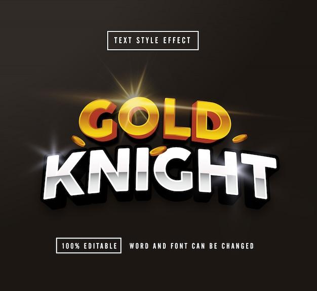 Редактируемый текстовый эффект gold knight