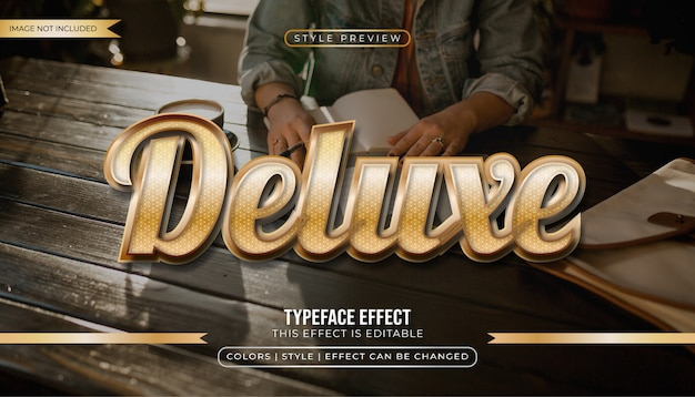 Gold latte text style effect