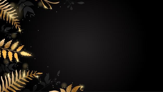 Золотой лист фон с блеском