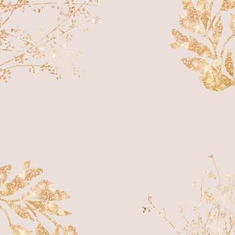 Gold leaf festive background celebration social media wallpaper
