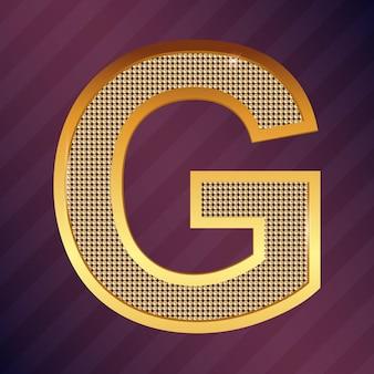 로고 또는 아이콘에 대한 골드 문자 g 벡터 글꼴 유형