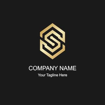 Gold letter s color logo elegant