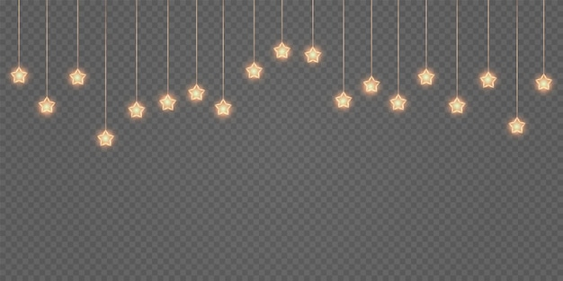 투명한 배경 디자인 요소에 황금 먼지 보케 오버레이가 있는 금빛 축제 화환