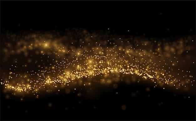 검은 바탕에 골드 빛이 빛나는 입자