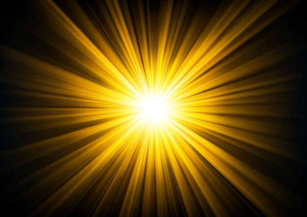 Gold light shining from darkness background