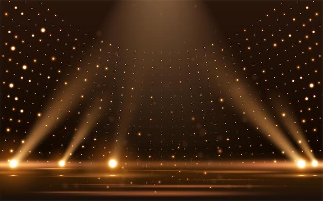 ゴールドライト光線シーンの背景