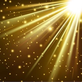 Gold lights shining background