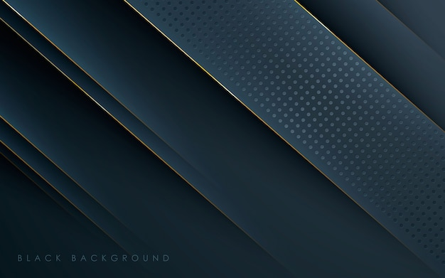 Gold line and dots concept black background