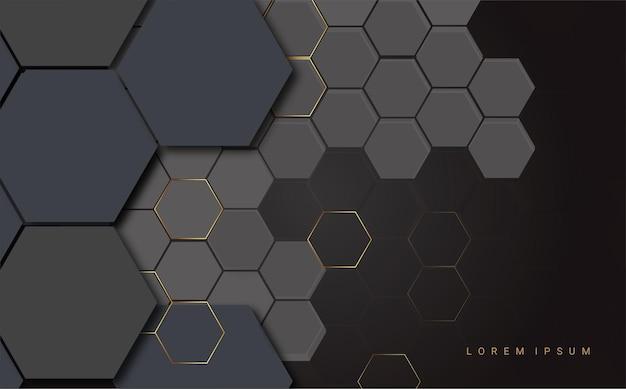 黒の背景に金色の線