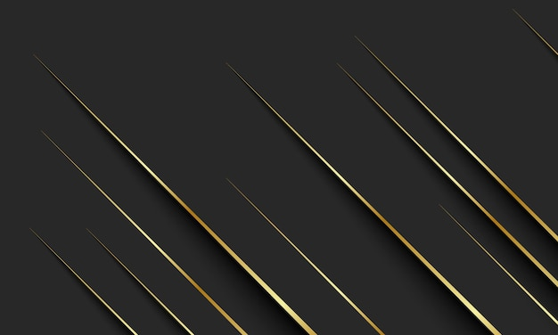Gold lines with shadow on dark background. elegant background for a brand book.