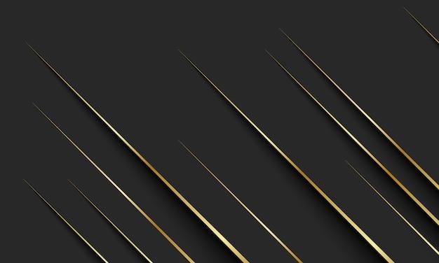 暗い背景に影のある金色の線。ブランドブックのエレガントな背景。