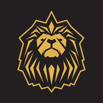 Gold lion logo template