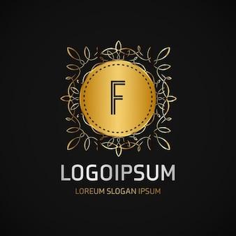 フレームとゴールドのロゴ