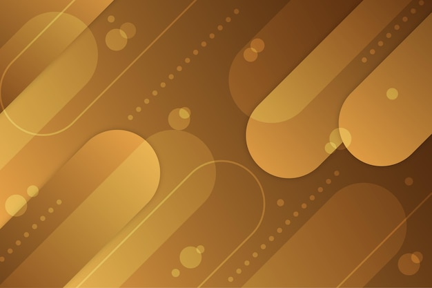 Gold luxury background with oval shapes