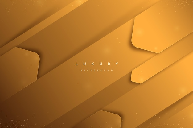 Gold luxury background with shapes