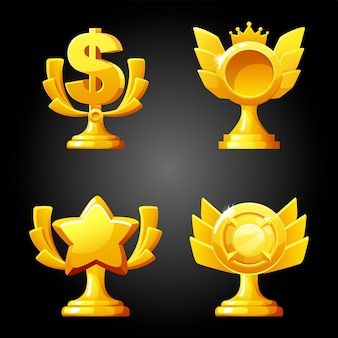 Gold luxury figurines awards for the game