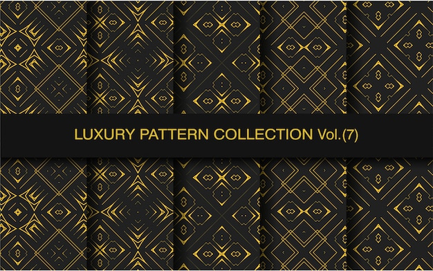 Gold luxury geometric pattern collection