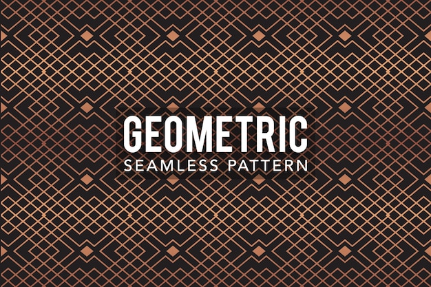 Gold luxury geometric seamless pattern  template
