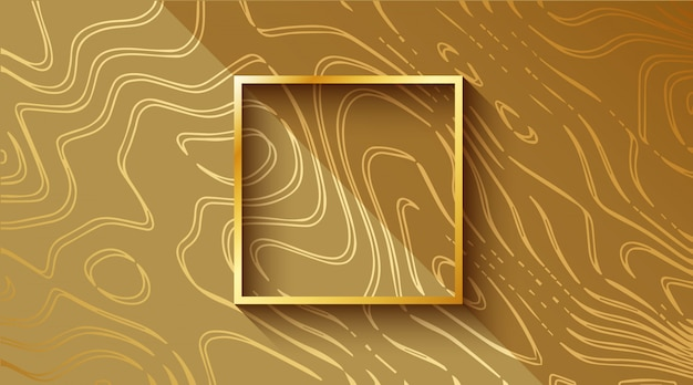 Gold luxury vibrant wavy background