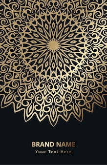Золотой мандала фон украшения узор