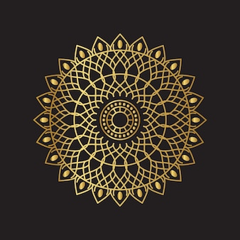 Gold mandala background
