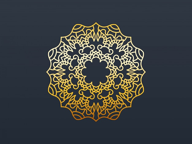 Gold mandala element decorative.