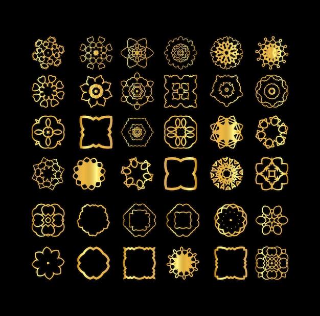 Gold mandala elements