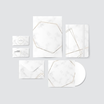 Gold and marble design for products vector