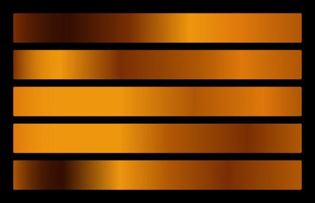 Gold metal gradient collection. gold foil texture set.
