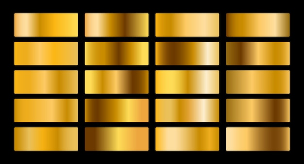 Gold metal gradient collection