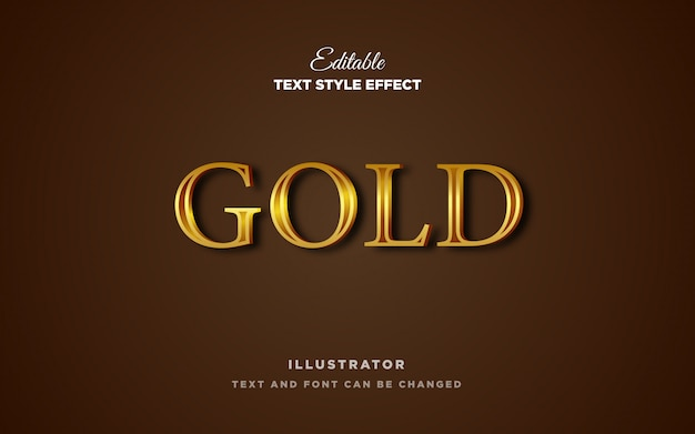 Gold metal text style effect