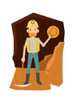 Золотоискатель получает результаты после выкапывания