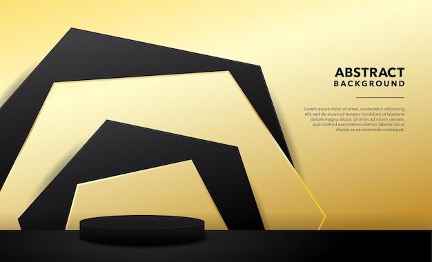 Золотой современный абстрактный продукт фон дизайн