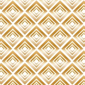 Золотой современный узор с ромбами. векторные иллюстрации.