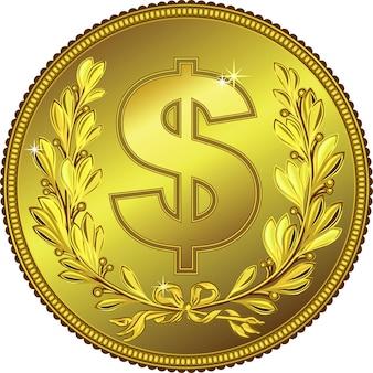月桂冠とゴールドマネードルコイン