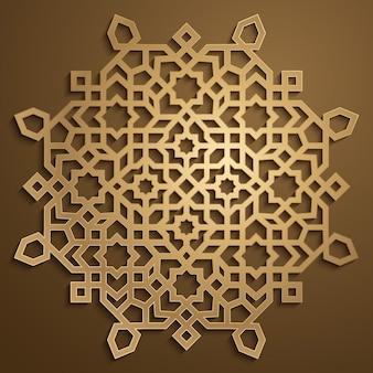Gold morocco arabic ornament