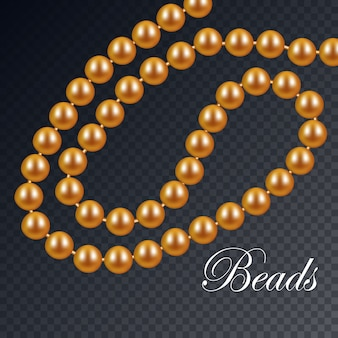 Gold necklace of pearls