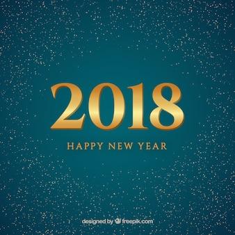 青、金の新年2018の背景