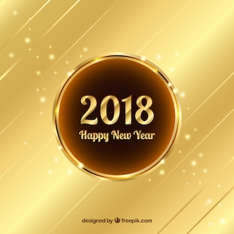 gold new year 2018 background