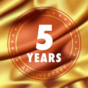Gold number for anniversary birthday