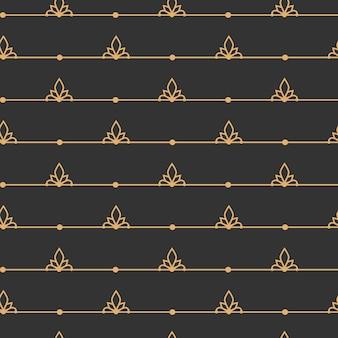검은 선 완벽 한 패턴에 골드입니다. 무한한 배경, 무한한 추상 장식.