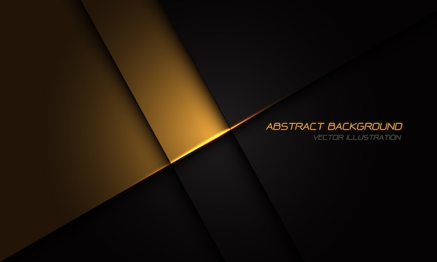 Золото на черный металлик текстуры с простой текст роскошный футуристический фон.