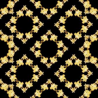 Gold  ornament frame pattern
