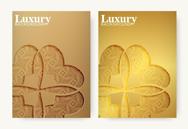 Gold ornament pattern cover template