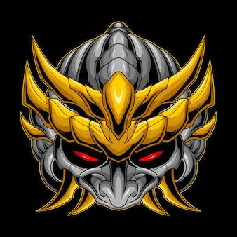 Gold ornament samurai mask