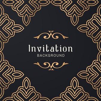 Gold ornamental decorative frame illustration