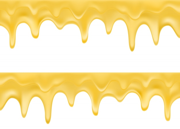 Gold paint dripping illustration
