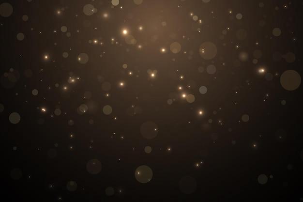 금 입자 조명 효과 금 먼지 배경 장식
