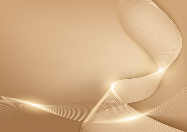 Gold pastel lines abstract background