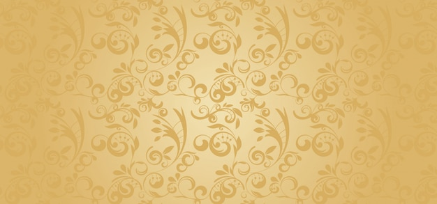 Gold pattern banner in a gothic style